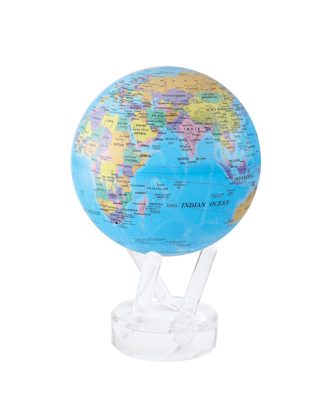 MOVA Political Map Blue Globe with Acrylic Base on united states map, country map, globe bar, syria map, canada map, physical map, middle east map, nebraska map, political map, america map, world map, earth map, continent map, robinson map, vintage globe, global map, vermont map, google map, australia map, world globes, hemisphere map, equator map, floating globe, antique globe, usa map, philippines map, snow globe, globe shoes, antique map, gemstone globe, globe earth, map of fl, new hampshire map, austria map, us and europe map, london map, tectonic plates map, interactive globe, gemstone world globe,